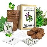 Herb Garden Starter Kit (Indoor) Natural, Organic Planting | Pots,...