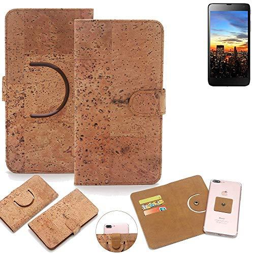 K-S-Trade® Schutz Hülle Für Hisense HS-U970E-8 Handyhülle Kork Handy Tasche Korkhülle Handytasche Wallet Case Walletcase Schutzhülle Flip Cover Smartphone