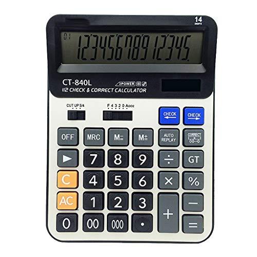 Calculadora Grande Calculadora Básica, Batería Solar, Escritorio De La Oficina De Energía Dual, con Pantalla LCD De 12 Dígitos