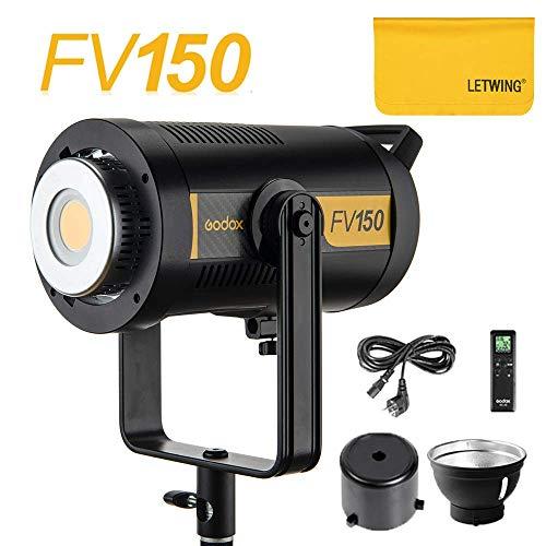 Godox FV150 Hochgeschwindigkeits-Sync-Blitz-LED-Licht Einstellbare Bowens-Halterung mit 2,4-G-Funkempfänger 8 FX-Modi, passend für Canon Nikon Sony usw. (FV150)