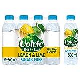 Volvic Toque de fruta sin azúcar agua con sabor a limón, 12 x 500 ml