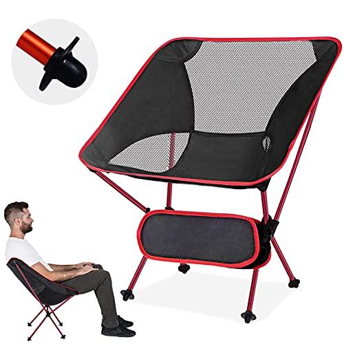 YEAHTOP Silla de Camping Plegable, Silla de Acampada Plegable Ultraligera y Portátil,...