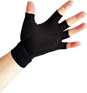 Copper Arthritis Gloves Compression Gloves for Arthritis Pain Relief, Compression Hand Support Relieve Arthritis Symptoms Copper Gloves Hand Arthritis Gloves for Men Women (S)