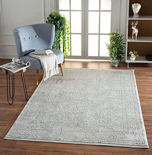 the carpet Scandi - Alfombra de diseño moderno para salón, fácil de limpiar, llamativa, elegante brillo noble, color beige, 160 x 230 cm