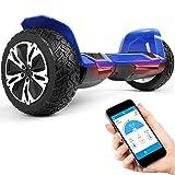 Bluewheel 8.5' Hoverboard patín eléctrico HX510 con UL2272 estándar de Seguridad, Cambia de Color con la App, Altavoz Bluetooth, Motor 700W, Patinete eléctrico con Cobertura de Aluminio (Azul)