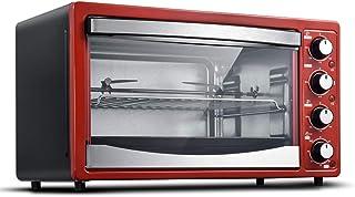 SSCYHT Horno Tostador, Cocina Multifunción, con Bandeja para Hornear Y Rejilla, Bandeja para Migas Y Libro De Recetas, 28L 1500W