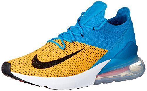 Nike Mens Air Max 270 Flyknit Laser Orange/Blue Flyknit Size 9.5