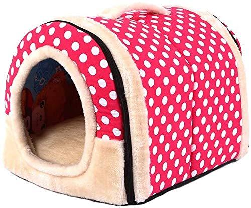 Pequeña mascota animales tiendas de campaña de calefacción automáticos, 34,9 a 30,8 cm, con una cámara inferior Pet,Pink