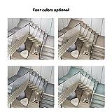 GJX-Treppenmatte Stufenmatte Treppen-Teppich Rechteck Einfarbig Selbstklebend Kurzer Flaum Rutschfest 4 Farben 5 Größen (Color : A- 26X75CM, Size : 5pcs) - 2