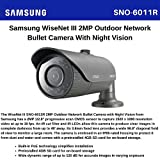 SS301 - SAMSUNG SNO-6011R CCTV BULLET CAMERA 1080P HD WEATHERPROOF IP66 NETWORK IR 2MP POE BUILT-IN 3.8MM FIXED LENS DAY & NIGHT WDR