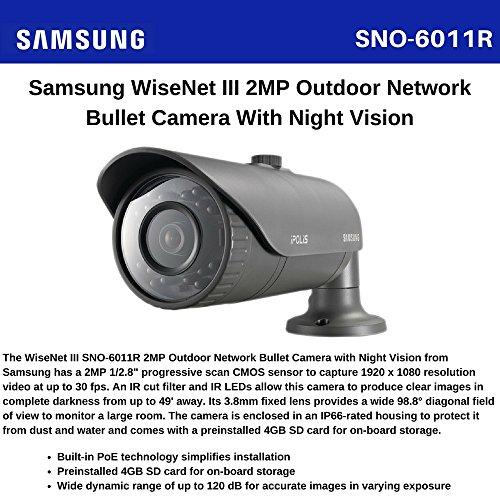 Samsung SNO-6011R IP Security Camera Innen und Außen Kabelschuh grau Sicherheit Kameras