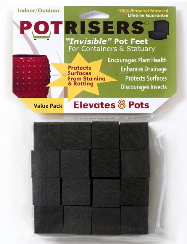 Potrisers (Standard Size -32 Pack) - Invisible Pot Feet to Elevate up to 10 Flower Plant Planters or Statues | Perfect for Patios, Decks, Gardens, and Greenhouses - Made in the USA