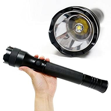 KENO Professional Tactical Torch Flashlight Water Resistant LED 1800 Bright Flashlight,Powered by 3xD Battery(Shipped WITHOUT Battery),Perfect for Cops,Camping,Hunting and Emergency