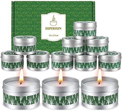 12 Stück Duftkerze Zitrusfrüchten Lemon, Geschenkset Frauen Schöne Kerzen Duftkerzen Set Weihnachten Geschenkset für Frauen
