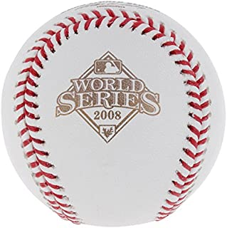 2008 World Series Official MLB Baseball Philadelphia Phillies vs Tampa Bay Rays
