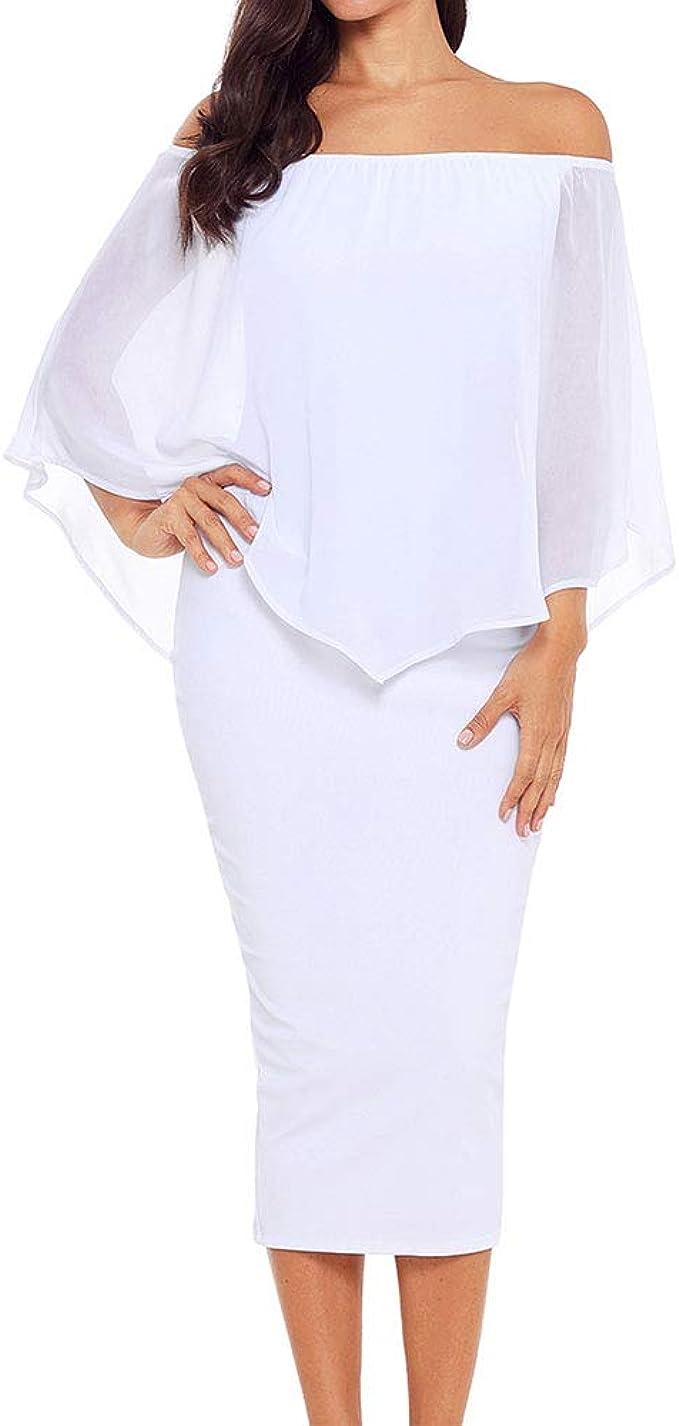 Ancapelion Damen Chiffon Kleider Midi Sommerkleid Kurze Armel Casual Empire Unregelmassiger Saum Ungefuttert Kleid Amazon De Bekleidung