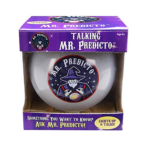Mr. Predicto Plastic Fortune Telling Ball - Talking Halloween Crystal Ball - Ask a YES or NO Question & He'll Magically Light Up & Speak the Answer - Talking Fortune Teller Toy Like Magic 8 Ball