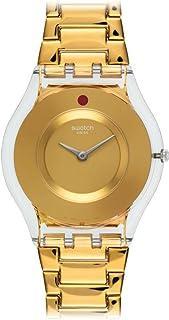 Swatch Women's SFK399G Punto Rosso Year-Round Analog Quartz Gold Watch