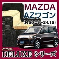 自動車販促用品専門店カーライフ (DELUXEシリーズ) マツダ AZワゴン フロアマット カーマット カーペット 車マット (H20.09ー24.12,MJ23S) バージョン:シリウス仕様:インパネシフト ブラック