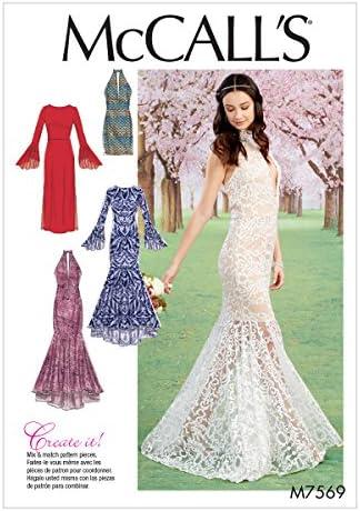Mermaid wedding dress pattern