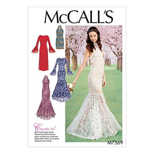 McCall's Patterns M7569A50 Misses Bodice and Sleeve Variations Column and Mermaid-Style Dresses