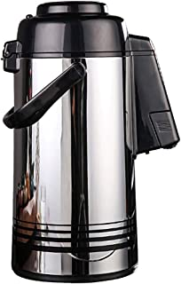 ZCXBHD 空気圧 真空 断熱ポット 老人 子 家庭 ディスペンサー付き DoubleWalled パーフェクト にとって コーヒーと紅茶 3L (色 : シルバー しるば゜)