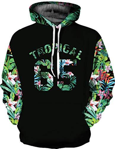 WRZWYM Europa und die Vereinigten Staaten tropischen Hölzern Digitaldruck Paar Modelle Größe Pullover lose dünne Sportjacke XXXL