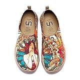 UIN Chica Monacan Zapatos Antideslizantes del Lona Mujeres(38 EU