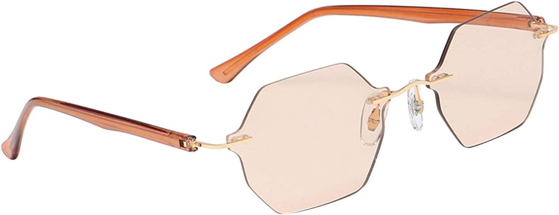 Sharplace Gafas de Sol Sin Montura para Mujer con Estilo de Moda Piloto Protección UV400 Conducción Viajar Gafas de Sol Ligeras Lentes Graduadas Protección para