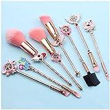 Makeup Brushes Set Magic Sailor Moon / Sakura Cosmetic Makeup Tool Kit Set of 8 Pink Drawstring Bag Included (Sakura)