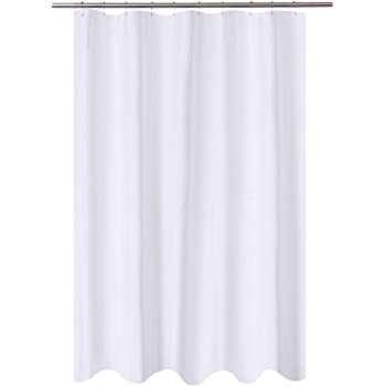 EurCross Stall Shower Curtain Liner54 x 72inch EVA Waterproof Weighted Clear Shower Liner with Magnets,Cobblestone Narrow Small Shower Curtain Liner 54 inch Wide,9 Buttonholes