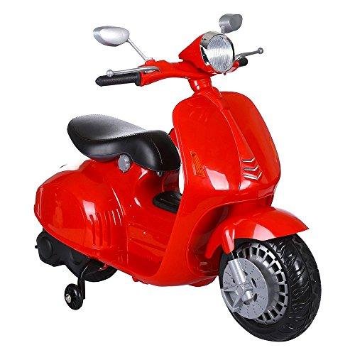 Scooter eléctrico 12 V Mini Scooter Moto para niños rojo