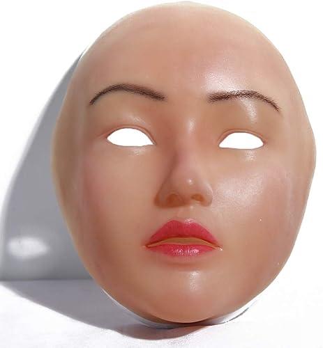 Sexy Silikon Maske Frauen Pretty Halloween Weißnachtsmasken Angel Face Cosplay Male zu Frauen für Crossdresser Transgender Shemale