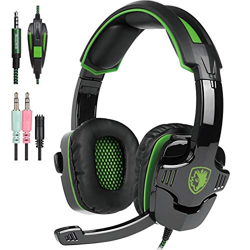 SADES SA810 Xbox one, PS4 Gaming Kopfhörer mit 3,5 mm verkabeltem über-Ohr Noise Isolier Mikrofon Lautstärke vier für PC/Mac/PS4/neue Xbox One/Smartphone/Tabelle