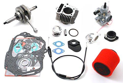 TB Parts TBW0975 Trail Bikes Stroker Kit 5 & Mikuni Carb Converts 88cc to 117cc Z50 XR50 CRF50