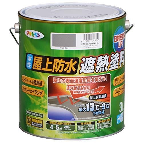 水性屋上防水遮熱塗料 3L
