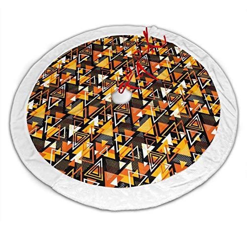 CDMT-XU1 ~ Geometric Candy Corn Christmas Tree Skirt for Xmas Decoration 36
