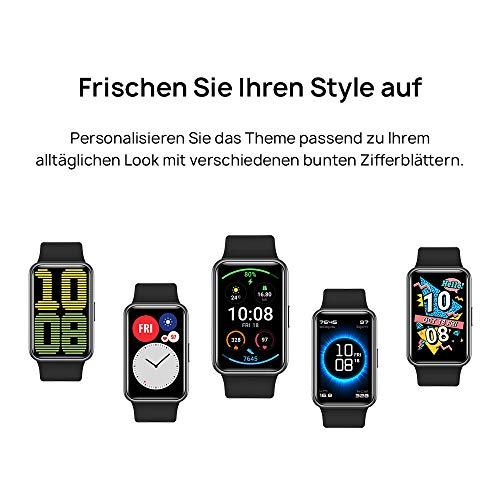HUAWEI Watch Fit Smartwatch (42mm AMOLED-Display, Herzfrequenzmessung, 5ATM wasserdicht, GPS) Graphite Black [Exklusiv + 5 EUR Amazon Gutschein] - 3