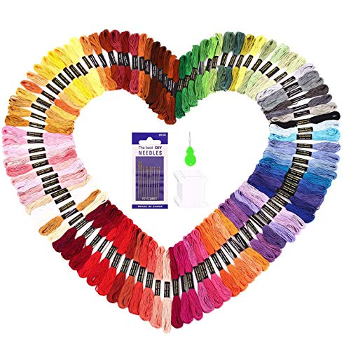 SOLEDI Hilo de Punto de Cruz 100 Tipos de Colores Bordados