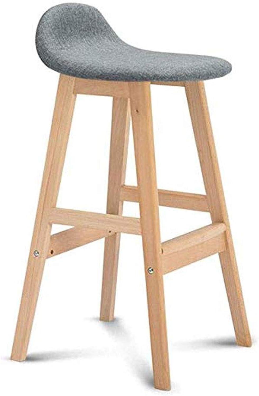 bienvenido a orden JJSFJH JJSFJH JJSFJH Barra Antideslizante Silla de Bar Paño de Madera Maciza Retro Nordic Taburete Alto Cocina de Diseño ergonómico Tienda de Oficina (Color   A)  precios razonables