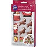 Wilton Gingerbread Scene Icing Decorations, Multicolor