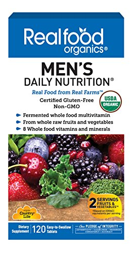 Country Life Realfood Organics Men's Daily Nutrition - 120 Tablets - Easy to Swallow - Wholefood Multi-Vitamin