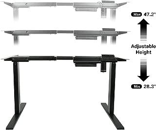 AECOJOY Electric Stand Up Desk Frame, Height Adjustable Standing Base Single Motor DIY Workstation with Memory Controller