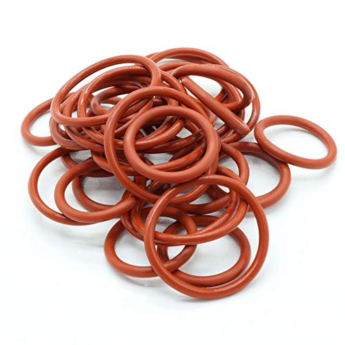 10pcs O Ring Seal Gasket Thickness 3.5mm Insulated Waterproof Washer, Od 14mm, Red,3.5Mm