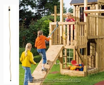 bambus-discount.com Kletterseil für Spielturm, 210cm - Kinderspielgeräte für Garten, Spielgeräte für Kinder, Spielturm, Spieltürme