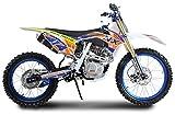 Pitbike Motocicletta da Motocross 250cc NCX Moto NX 21/18 Bianca e Blu