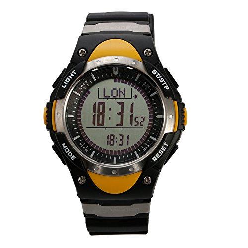 SUNROAD FR828A Hombre Relojes deportivo reloj con brújula digital barometro termometro cronometro alarma pesca prediccion del tiempo del reloj de los hombres