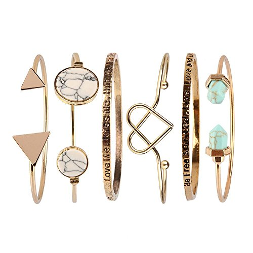 Beauty7 Kits de Bracelet Manchette Chaines Boho Bracelet Plage Ethnique Manuel Femme Cadeaux Noel