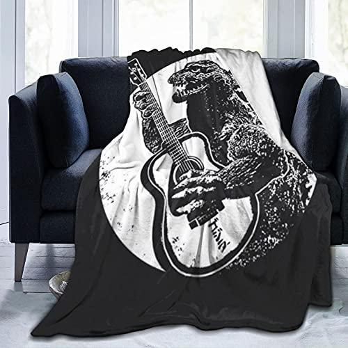Wteqofy Godzilla Leichte weiche Flanelldecke für Bett, Sofa, Stuhl, Reisen, Kraft, Mut, Superweich, Warm, Komfort und Pflege für Kinder, Jugendliche und Erwachsene, 50 x 39,8 Zoll