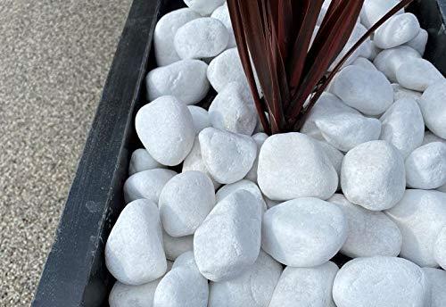 Piedra Canto Rodado Saco Blanco Especial (99%) (5 Kg, Tamaño: 20-40mm)